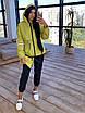 Женский спортивный костюм из плащевки на подкладе с кофтой на молнии и с капюшоном 66rt1097Е, фото 4