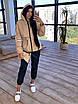 Женский спортивный костюм из плащевки на подкладе с кофтой на молнии и с капюшоном 66rt1097Е, фото 5