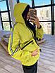 Женский спортивный костюм из плащевки на подкладе с кофтой на молнии и с капюшоном 66rt1097Е, фото 6