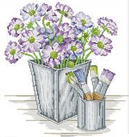 Набір для вишивання хрестом 36х38 Квіти і фарби Joy Sunday H711, фото 1