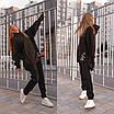 Теплий спортивний костюм з трехнитки штани і подовжене худі з капюшоном 56rt1098, фото 8