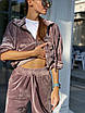 Велюровый спортивный костюм - штаны и толстовка с капюшоном (р.42-46) 83rt1100, фото 5