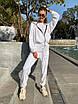 Велюровый спортивный костюм - штаны и толстовка с капюшоном (р.42-46) 83rt1100, фото 7