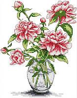 Набір для вишивання хрестом 21х27 Троянди у вазі Joy Sunday H026, фото 1