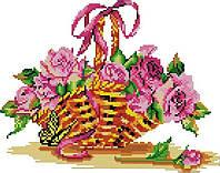 Набор для вышивания крестом 33х27 Розы в корзинке Joy Sunday H395, фото 1