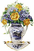 Набір для вишивання хрестом 34х48 Букет в китайській вазі Joy Sunday H081, фото 1