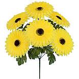 Искусственные цветы  подсолнух цветной, 51см (10 шт. в уп), фото 2