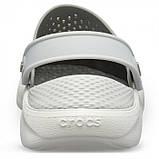 Подростковые кроксы Crocs LiteRide™ Clog серые 38 р., фото 2