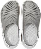 Подростковые кроксы Crocs LiteRide™ Clog серые 38 р., фото 3