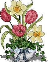 Набір для вишивання хрестом 29х39 Тюльпан і нарцыс Joy Sunday H398, фото 1