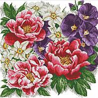 Набір для вишивання хрестом 52х52 Квіти Joy Sunday H511, фото 1