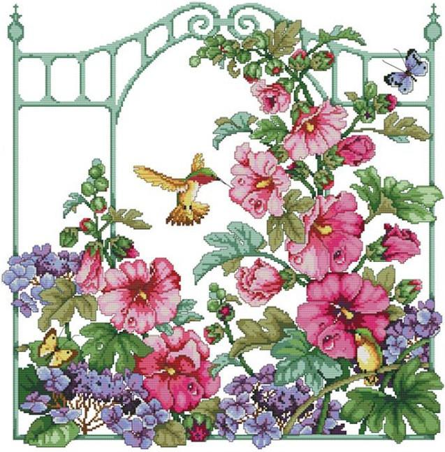 Набор для вышивания крестом 53х57 Садовые цветы Joy Sunday H525