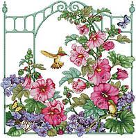 Набор для вышивания крестом 53х57 Садовые цветы Joy Sunday H525, фото 1