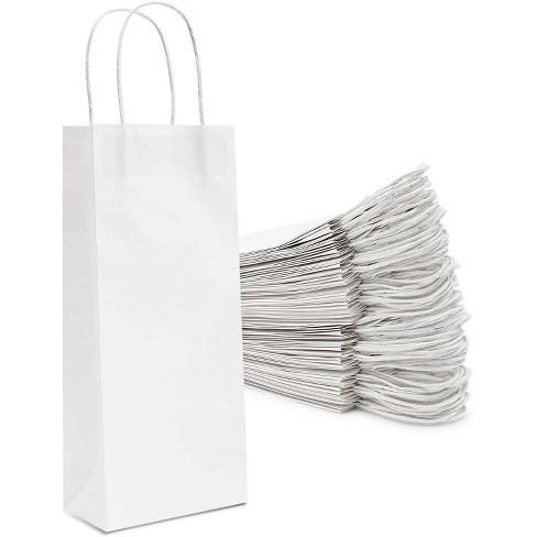 Білий крафт-пакет з витими ручками (150х80х240)