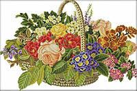 Набір для вишивання хрестом 52х37 Квітковий кошик Joy Sunday H621, фото 1
