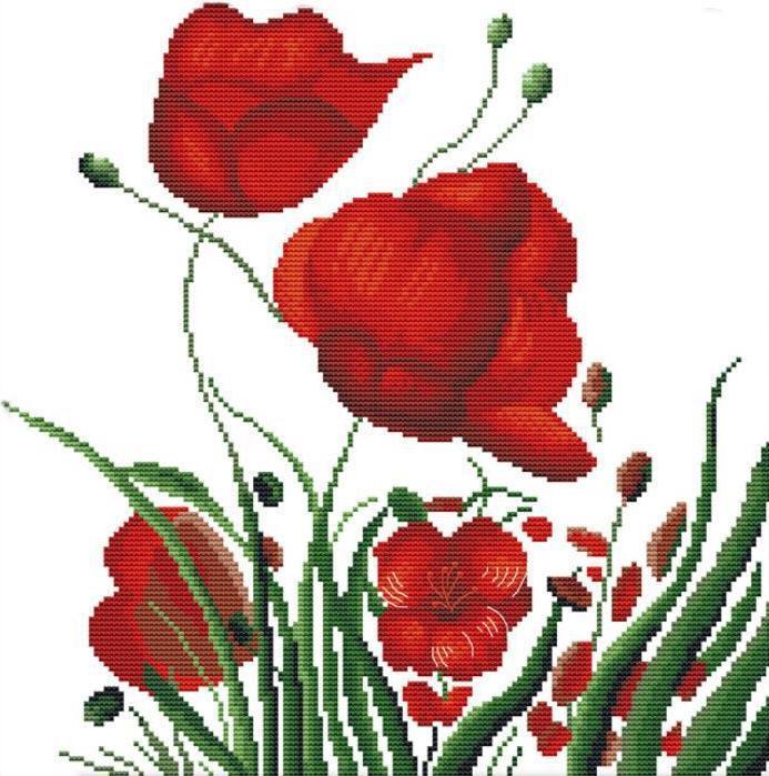 Набор для вышивания крестом 36х36 Краски лета Joy Sunday H137