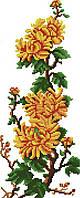 Набор для вышивания крестом 18х41 Хризантемы Joy Sunday H071, фото 1
