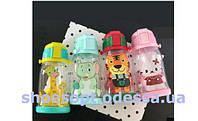 Бутылка детская с трубочкой Животные, фото 1
