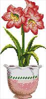Набір для вишивання хрестом 19х38 Червоний квітка Joy Sunday H389, фото 1