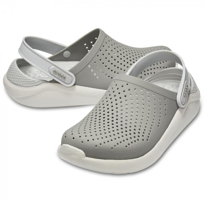 Мужские кроксы Crocs LiteRide™ Clog серые 42 р.