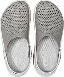 Мужские кроксы Crocs LiteRide™ Clog серые 42 р., фото 4