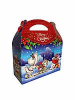 Синя Сумка Новорічна Паперова Упаковка для цукерок