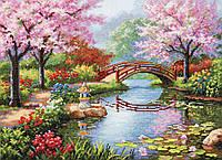 Набор для вышивания крестом 55х43 Японский сад Joy Sunday F410