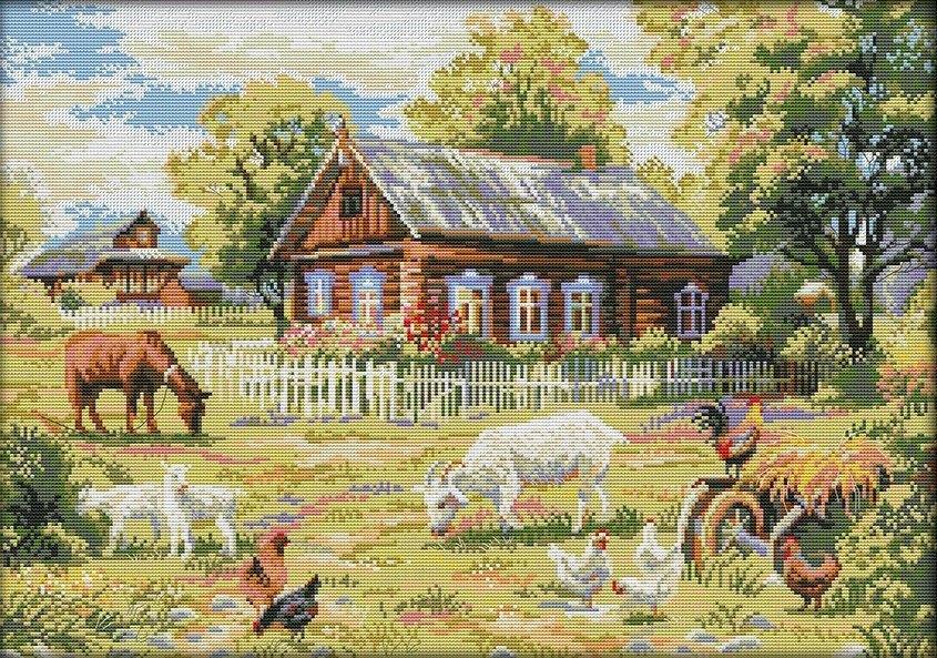 Набір для вишивання хрестом 58х43 Ферма Joy Sunday F865
