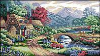 Набор для вышивания крестом 53х33 Альпийская деревня Joy Sunday F402, фото 1