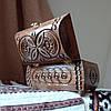Резная шкатулка - ларец 17х10х10 см. для украшений из дерева, ручная работа ШК-3, фото 6