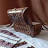 Резная шкатулка - ларец 17х10х10 см. для украшений из дерева, ручная работа ШК-3, фото 7