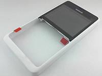 Корпус Nokia Asha 210 лицевая панель White, оригинал