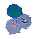 Детский джемпер для мальчика с надписью интерлок-начес, фото 3