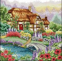 Набір для вишивання хрестом 43х43 Квітучий будиночок Joy Sunday F205, фото 1