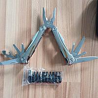Многофункциональный инструмент мультитул (нож складной, плоскогубцы, отвертка набор)