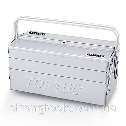 Ящик для інструменту металевий 5 секцій 470x220x350 TOPTUL TBAC0501