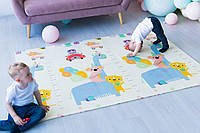 """Развивающий игровой коврик на пол для детей """"Аттракцион - Ростомер"""" 2000х1500х10 мм"""