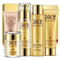 Подарочный набор из 5 средств BioAqua с Био-золотом 24K Gold Skin Care