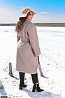 Пальто кашемірове бежевий Осінь Україна 48-52 великого розміру 858526-1, фото 2