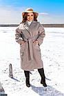 Пальто кашемірове бежевий Осінь Україна 48-52 великого розміру 858526-1, фото 3