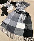 """Кашемировый теплый шарф палантин в клетку """"Лана"""" Cashmere 107016-4, фото 2"""