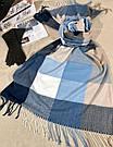 """Кашемировый теплый шарф палантин в клетку """"Лана"""" Cashmere 107016-10, фото 2"""