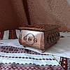 Шкатулка резная из дерева 16*11 с бархатом, ручная работа, фото 4