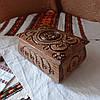 Шкатулка резная из дерева 16*11 с бархатом, ручная работа, фото 2
