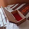 Шкатулка резная из дерева 16*11 с бархатом, ручная работа, фото 7