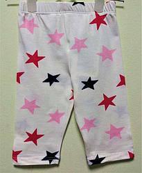 Капри для девочки, рисунок звезды, Zaroni club (размер 74)