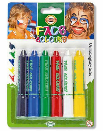 Краски для лица KOH-I-NOOR 4610-6 (6 цветов), фото 2