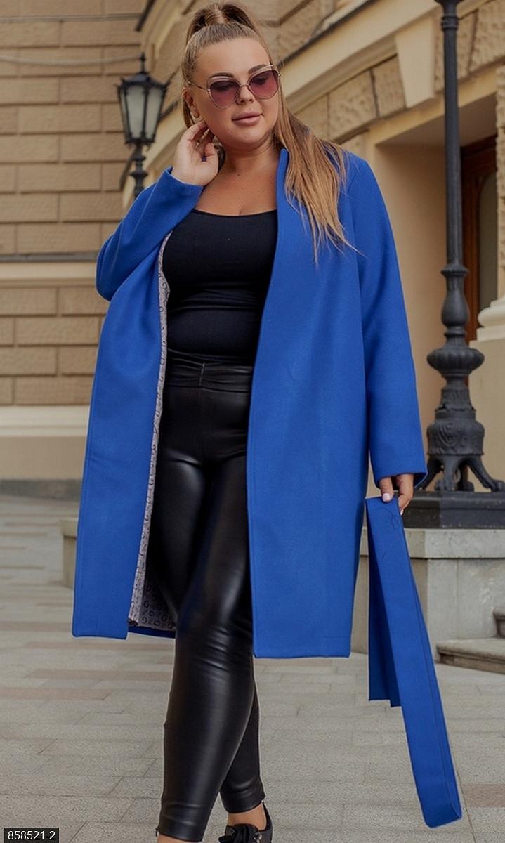 Пальто  кашемировое  синий  весна Украина 50-52 большого размера  858521-2