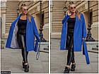 Пальто  кашемировое  синий  весна Украина 50-52 большого размера  858521-2, фото 2