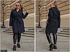 Пальто  весеннее кашемир чёрный Украина 50-52 большого размера 858521-1, фото 2